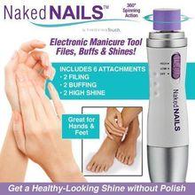 2016 Новый Naked Ногти Электронные Маникюр Инструмент Штрих Система Ногтей Идеальный Педи, файл/Бафф и Блеск Без Особых Усилий
