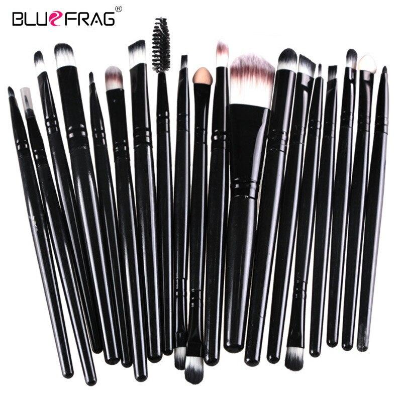 Bluefrag Профессиональный Макияж Щётка набор инструментов, Make-Up Парфюмерия Комплект Марка Make Up Щётка Set Pincel Maleta де maquiagem 6 цветов