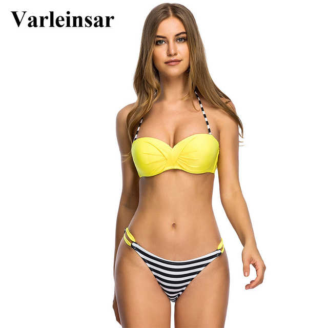 5c532d158ec7c Bather S - 3XL push up bikini Large plus size swimwear women bikini set two  pieces