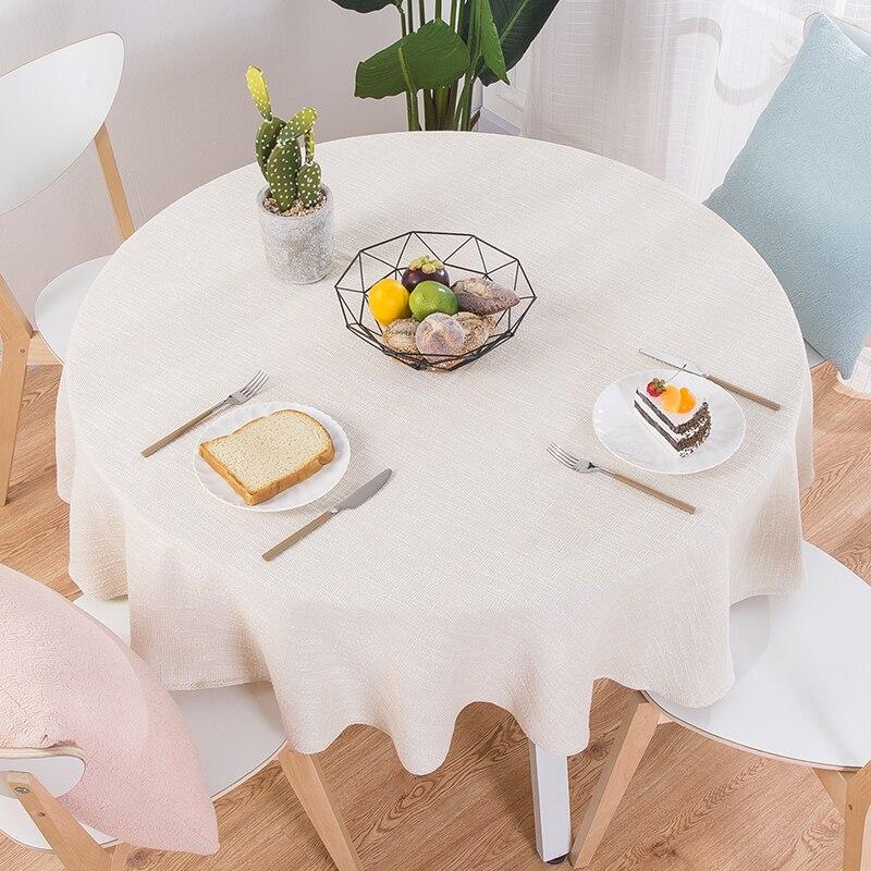 tarifiklan.com & Proud Rose Cotton Linen Table Cloth Round Wedding Party Table Cover Nordic Tea Coffee Tablecloths Home Kitchen Decor
