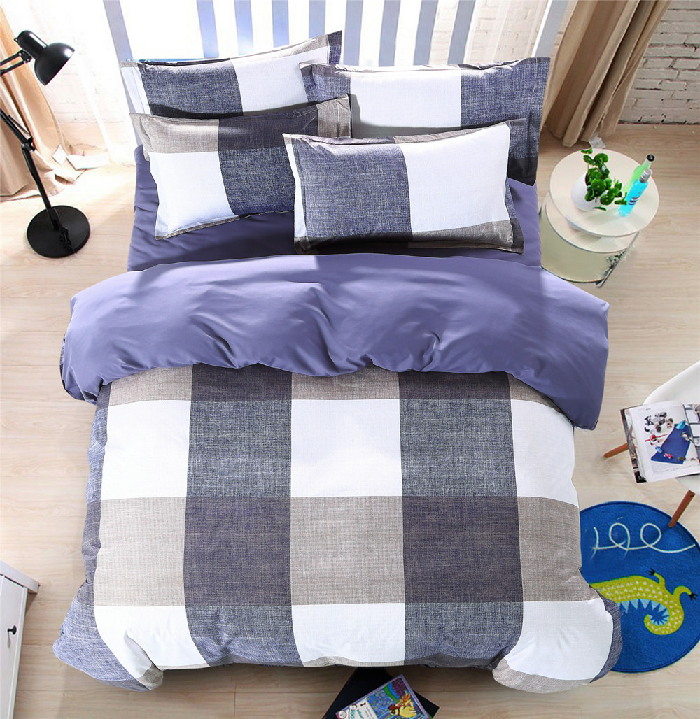 Yellow and black bedding sets - Black And White Plaid Comforter Bed Bedding Sets 4 5pcs Yellow Square Quilt Duvet Cover