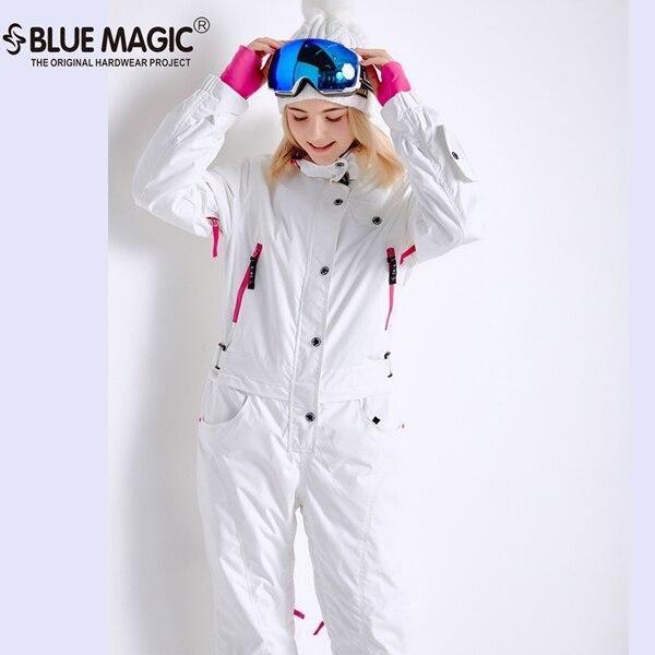 Синий волшебный зимний сноуборд kombez лыжная куртка и брюки лыжные костюмы женский комбинезон женский сноуборд водонепроницаемый комбинезон Россия - Цвет: white old style