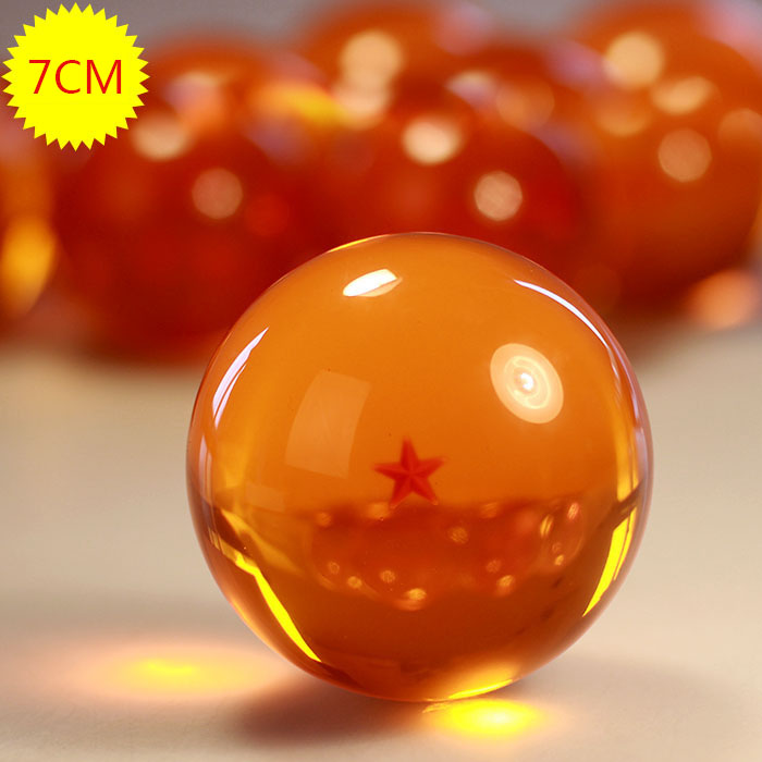 1 Pcs Japanese Anime bolas de Dragon Ball Z Star 7cm Crystal Ball PVC Children Figure Toys 1~7 Star Selectable Boxed Wholesale