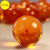 1 Unids Anime Japonés bolas de Dragon Ball Z Estrella 7 cm Bola de cristal DEL PVC Niños Juguetes Figuras 1 ~ 7 Estrellas Seleccionable En Caja Al Por Mayor