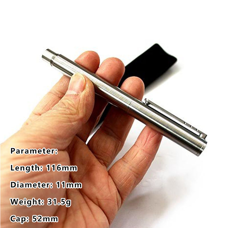 1PC High Quality Simple Titanium Alloy Signature Writing Pen Outdoor Self-defense Pen Broken Window EDC Multi-tool Luxury Gift