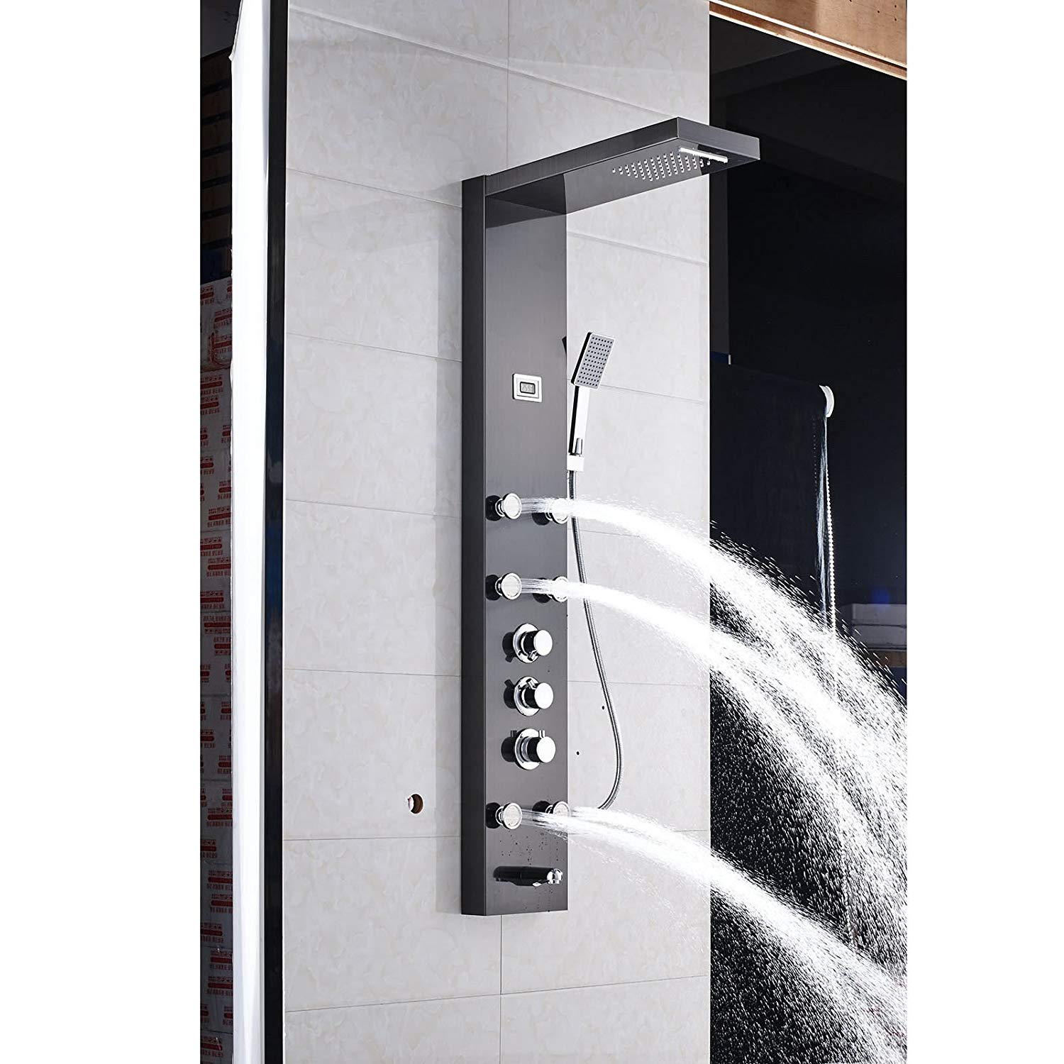 Thermostatic Black Oil Rubbed Bronze Shower Panel System