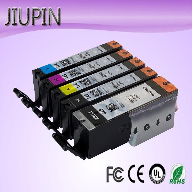 JIUPIN compatible 870 871 cartouche de recharge comestible Canon MG5780 MG7780 MG6880 TS5080 cartouche d'imprimante à gâteau