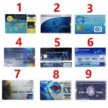 Real Capacity 2016 New Waterproof Super Slim Credit Card USB Flash Drives 32GB Pen Drive 4G 8G 16G Bank Card Shape Memory Stick