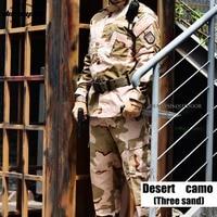 Desert Camouflage Suit Tactical Sets Army Military Uniform Combat Airsoft Uniform Shirt + Pants