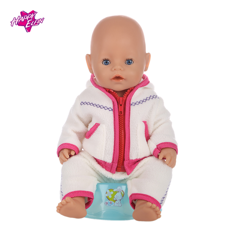 2color Baby Born Doll Clothes Fit 43cm Zapf Baby Born Doll Cute Jackets and Jumpers Rompers Doll Clothes Children Birthday Gifts meired grid jumpsuit hat wear fit 43cm baby born zapf children best birthday gift only sell clothes