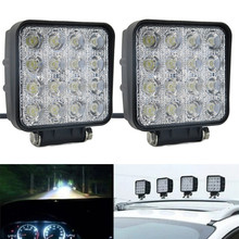 1pc SPOT Lamp Led Work Light Boat Tractor Truck  48W Offroad SUV UTE 4WD 12V 24V fog Spotlights tractor lights