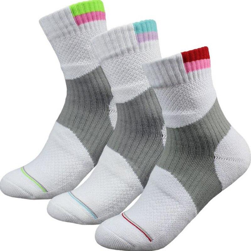 Women Outdoor Sports Elite Cycling Socks Women Tennis Socks Compression Socks Cotton Towel Bottom Non-slip Womens Sports Socks