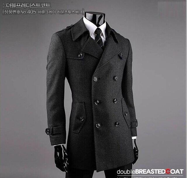 Outono mens trench coats magro moda casual casaco masculino curto trincheira  casaco sobretudo os homens jaqueta a462b54dd41