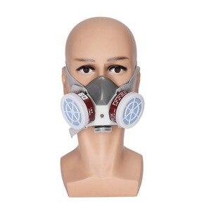Image 5 - עשן גז מסכת הנשמה מגן ציור ריתוך בטיחות כימי רעיל גזים מיכלי נגד אבק מסנן צבאי במקום העבודה