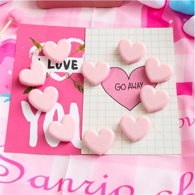 Pink Love Clip Desk Notes Folder Photo Memo Number Name Holder Tickets Notes Letter Paper Clip Office Supplies