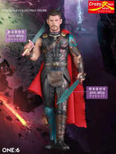 28 cm Loucos Brinquedos Vingadores Marvel Super Herói Thor com Swords PVC Action Figure Collectible Modelo Toy(China)