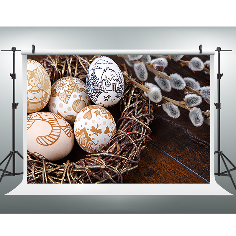 Easter Photography Backdrops Graffiti Eggs Computer Printing Backdrops Dark Wood Floor Easter Backgrounds for Photo Studio 200cm 150cm easter photography backdrops hay wood walls eggs studio photo easter day zj