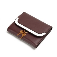2018 جديدة قصيرة المرأة محافظ نصب سيدة البسيطة المحفظة بطاقة عملة محفظة ماركة بمشبك وزيبر موضة المحفظة