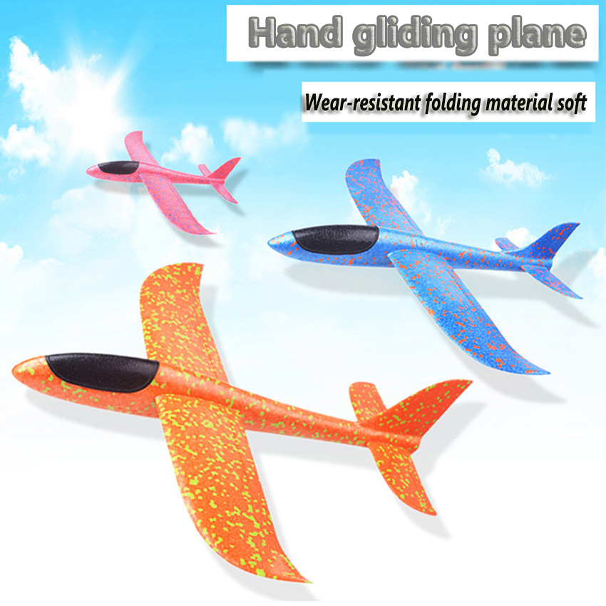 35cm-48cm Hand Launch Throwing Glider Aircraft Foam Airplane Toy Plane Model Outdoor Fun Sports Plane Model Interesting Kids Toy