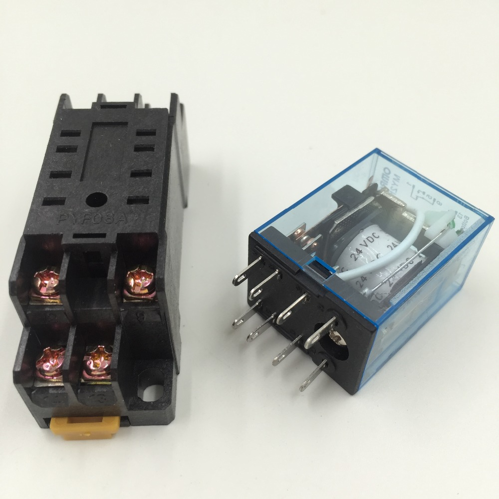 5Pcs Relay MY2NJ 220/240V AC Small relay 10A 8PIN Coil DPDT With Socket Base мультирезка endever skyline sm 04
