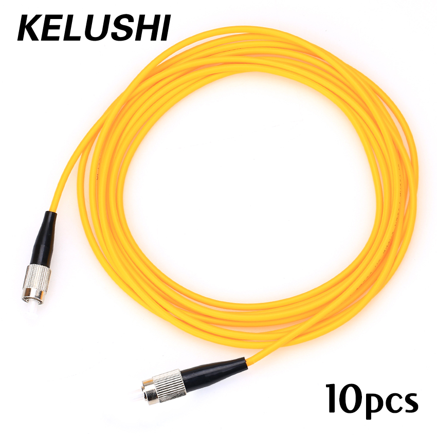 Free Shipping 10pcs/lot FC-FC Optical Fiber Jumper 3 meters 3.0mm FC/UPC-FC/UPC Optional Singlemode SM Simplex Cable Wholesale