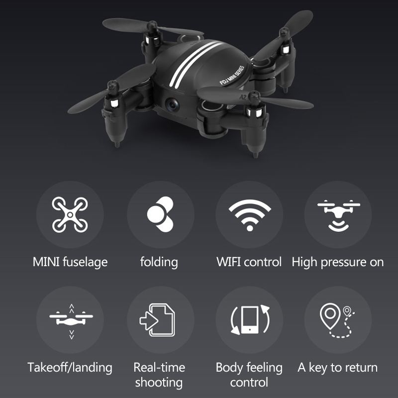 Mini Drone With Camera 0.3MP RC Helicopter Foldable Drones Altitude Hold RC Quadcopter WiFi FPV Pocket Dron VS h37