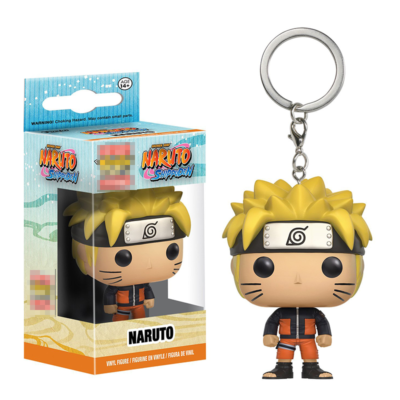 Funko Pop Pocket Key Chains Naruto Shippuden Q Version Naruto Doll Car Key Chain for Women Bag Pendant Fans Collection SP1718 фигурка funko pop animation naruto shippuden – sakura 9 5 см