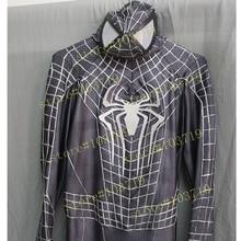 Hero Catcher High Quality Custom Made Black Spider Man Costume 3D Cobwebs Adult Spiderman Suit Black Spider Man Suit