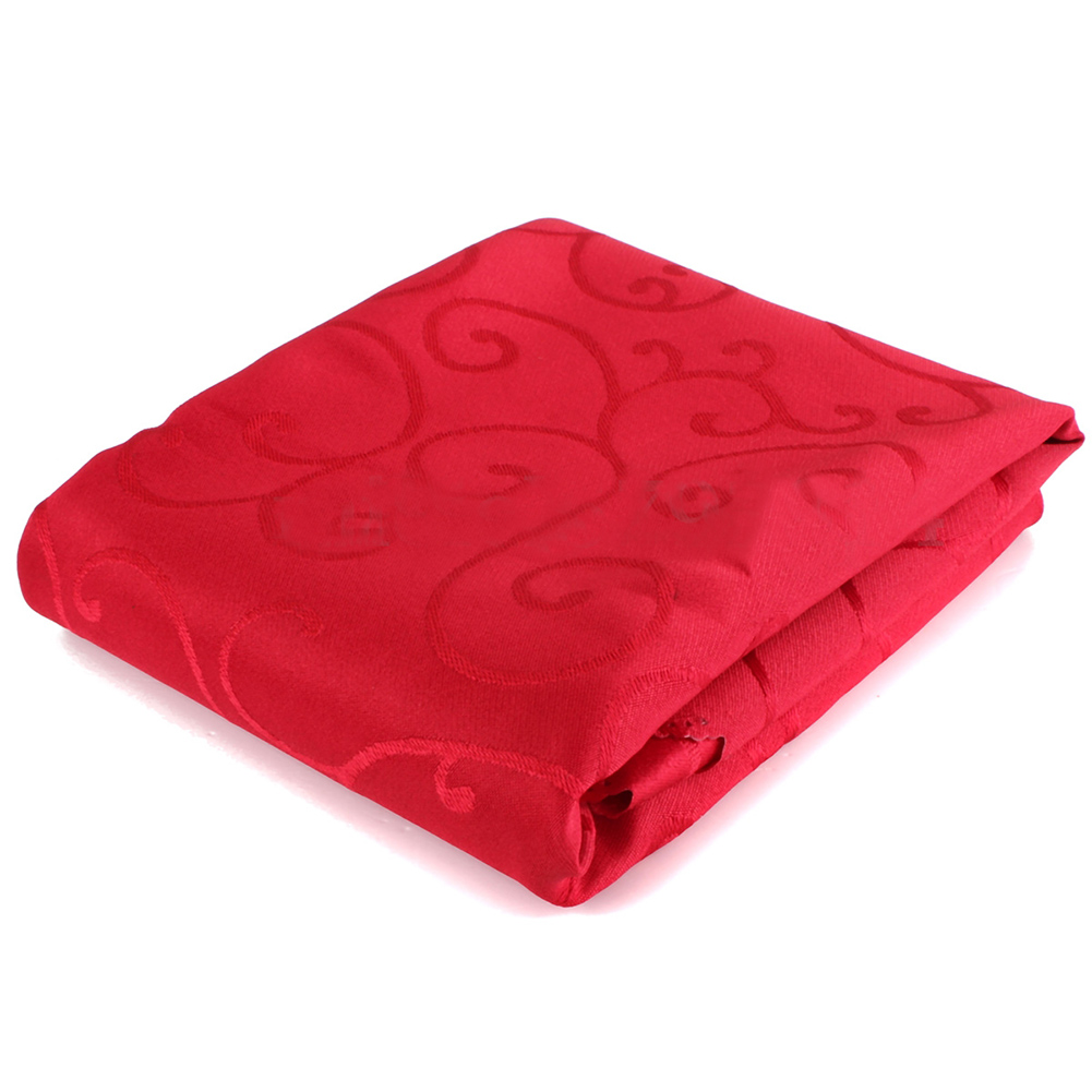 Square Tablecloths Catering Table Cover Wedding Party Restaurant Banquet Decor 1.2*1.2m red