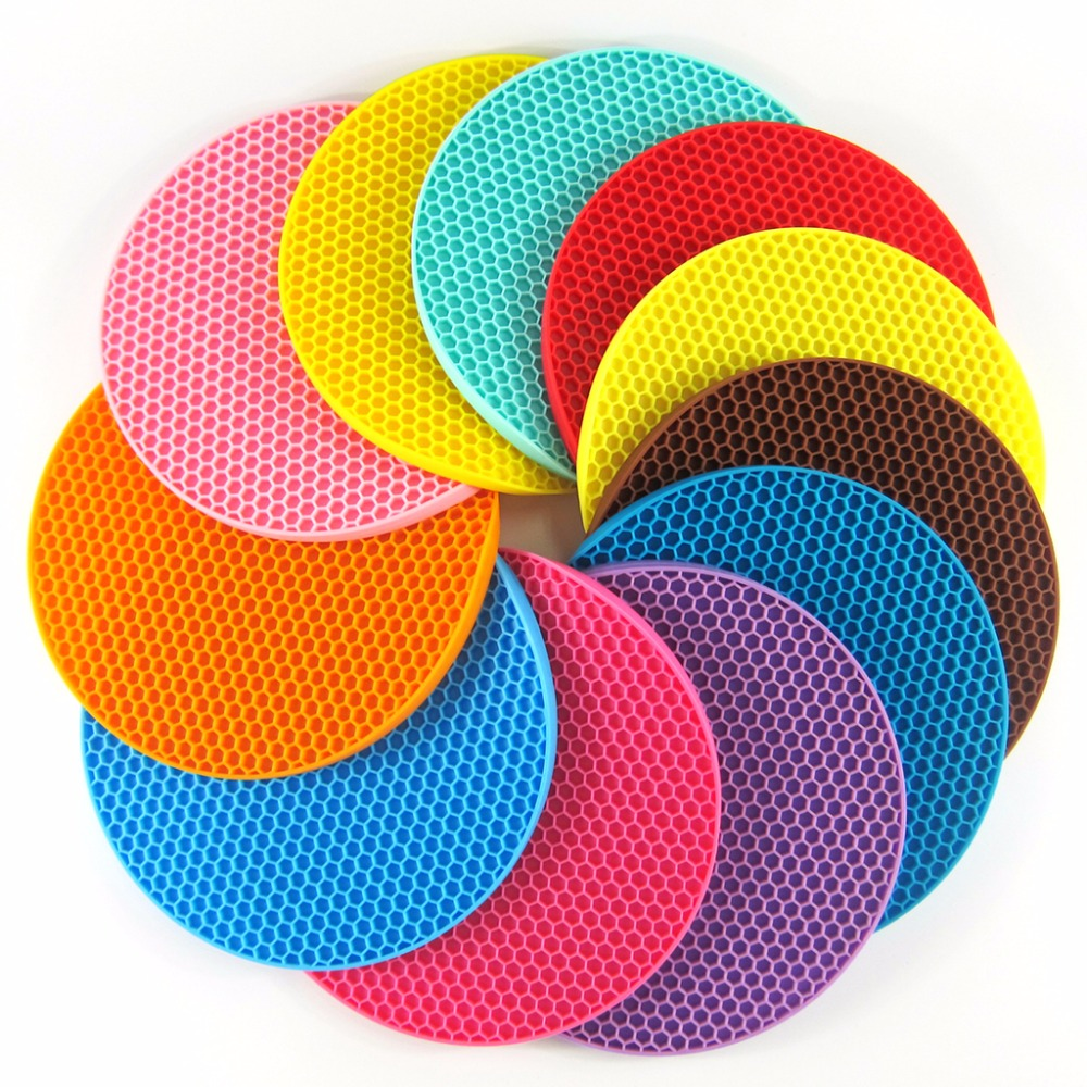 Silicone Pot Holders: Silicone Pot Holders, Multipurpose Round Pot Holders