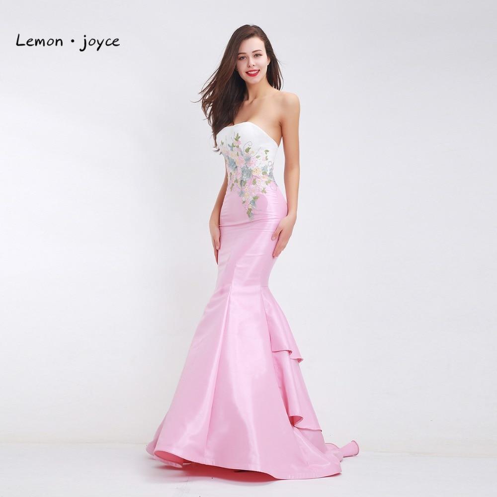 Elegante sirena vestidos de noche 2018 nueva llegada Appliques ...
