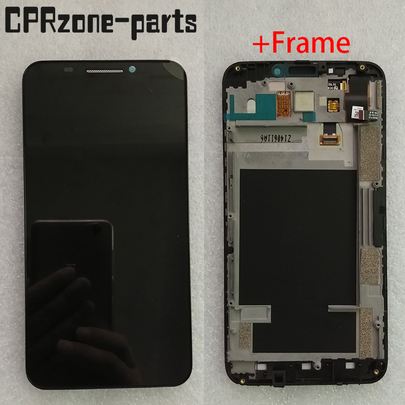 5.5 lcd with Frame For ZTE Grand S II S2 S291 S251 S221 LCD display with touch screen sensor digitizer assembly free shipping