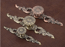 5pcs Europe Style Classical Cabinet Drawer Pull Handle And Knob Antique Copper small size ( L:113MM H:23MM )
