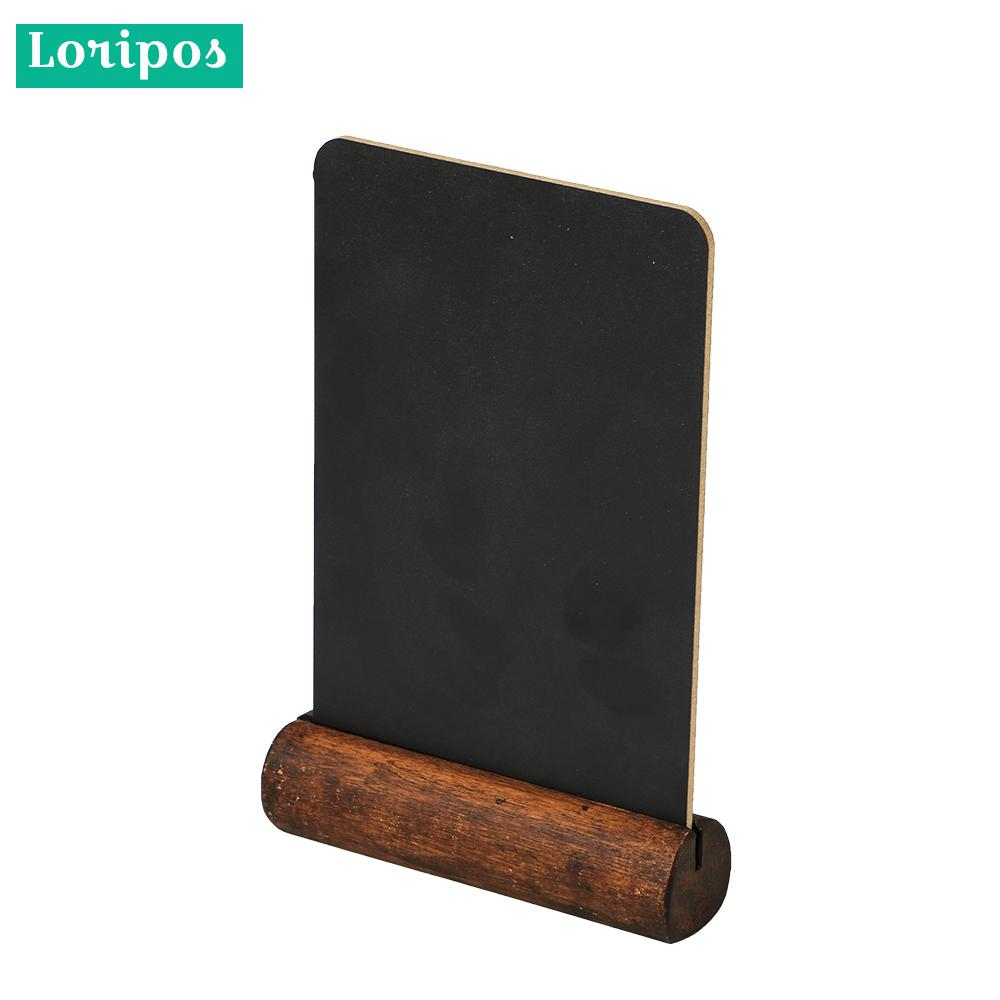 Black Chalkboard Frame Table Chalkboard Label Welcome Signs Blackboard Wooden Menu Stand Hand Writing Price Tag Display Stand