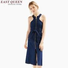 2016 denim dress women sexy denim sundress ladies elegant jeans sundress fashion 2016 new arrival denim clothing women AA993
