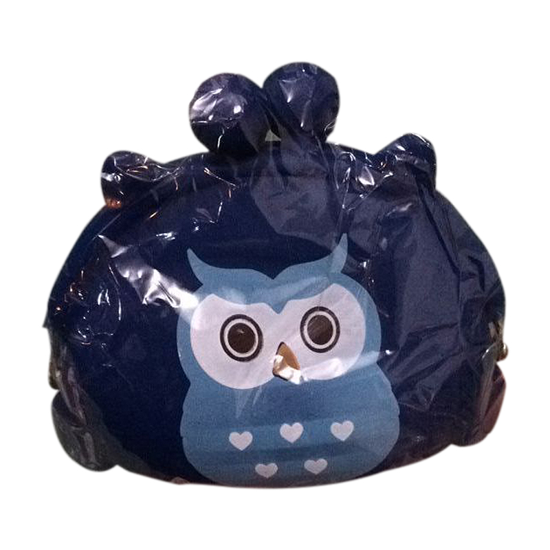Girls Cartoon Owl Silicone Jelly Wallet Bag Keys Coin Purse(blue)