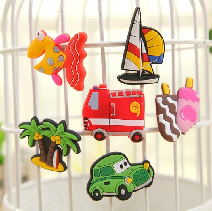 10PCS Cartoon Animal Fridge Magnet Refrigerator Sticker For Kids Message Holder Home Decor Teaching Supplies Best Gifts Set