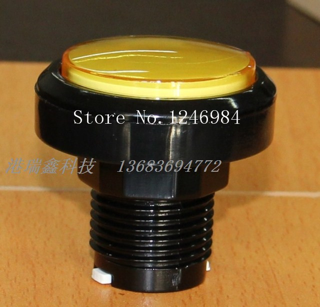[SA]Video game console accessories button buttons yellow circle mainframe computer switch button--20pcs/lot