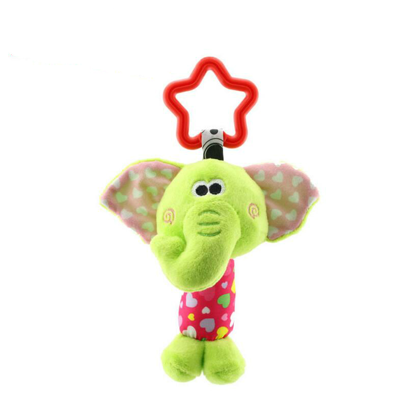 Image 2 - Baby Kids Bearoom Rattle Toys Cartoon Animal Plush Hand Bell Baby Stroller Crib Hanging Rattles Toys Infant Bed Hanging Gift-in Baby Rattles & Mobiles from Toys & Hobbies