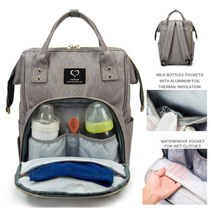 Image 2 - Bolsa de pañales para bebés, mochila de maternidad, artículos para el cuidado del bebé, cambiador