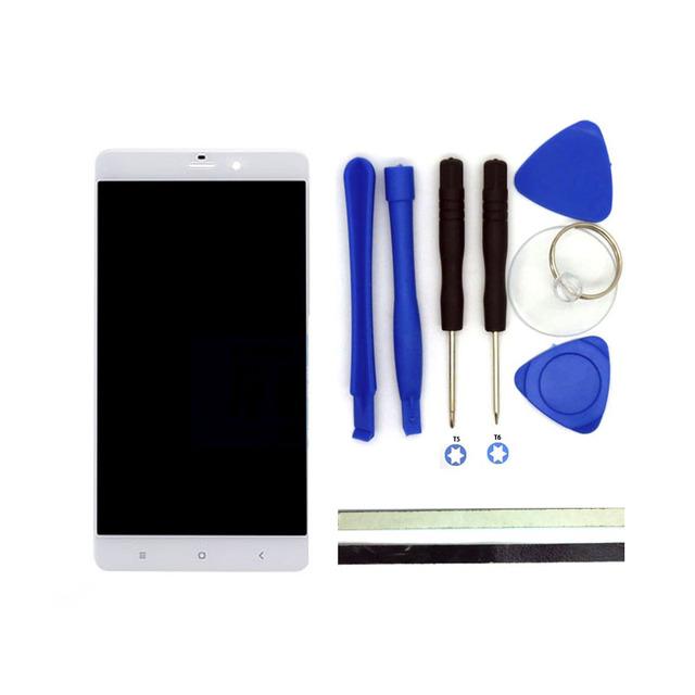 Mi nota Pro 5.7 Polegadas Display LCD + Digitador do Toque de Substituição Da Tela para peças de telefone celular xiaomi mi note branco com ferramentas gratuitas