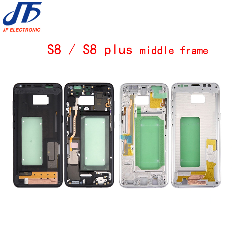 1Pcs For Samsung Galaxy S8+ S8 Plus G955 G955F Housing LCD Display Middle Frame Midframe Bezel Chassis Plate title=