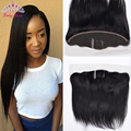 7A 13*4 Ear to Ear Lace Frontal Closure Peruvian Virgin Hair Straight Lace Frontal Closure with Baby Hair Rosa Hair Products