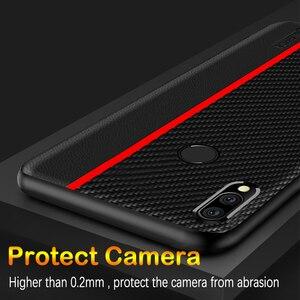 Image 5 - Funda de protección para Meizu Note 9, funda trasera de piel sintética de fibra de carbono para Meizu Note 9, carcasa para Meizu Note 9