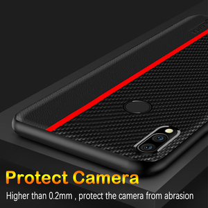 Image 5 - Meizu Note 9 케이스 글로벌 버전 Carbon Fiber PU 가죽 보호 커버 Meizu Note 9 커버 Meizu Note9 케이스
