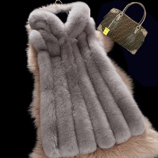 Faux Fourrure Sexy D'hiver Fausse Plus Vestes Chaud Femme Taille 2018 La Z170 Manteau De Gilets Artificielle Femmes En Gilet YYxTqrw