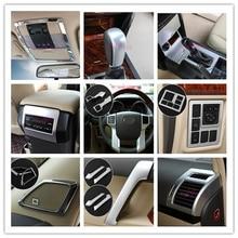 For Toyota Land Cruiser 150 Prado FJ150 2010 2017 Door Handle holder Steerling Wheel Gear Cover Chrome Car Styling Accessories