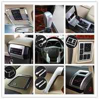 For Toyota Land Cruiser 150 Prado LC150 FJ150 2010-2017 Handle holder Steerling Wheel Gear Cover Chrome Car Styling Accessories