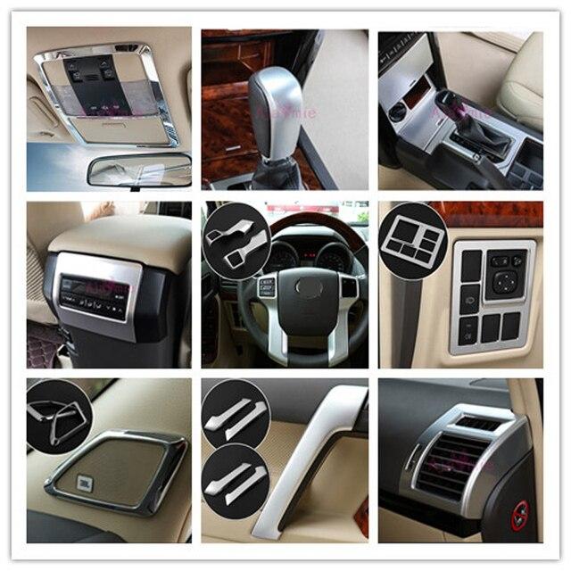 Voor Toyota Land Cruiser 150 Prado FJ150 2010 2017 Deur Handvat Houder Steerling Wiel Gear Cover Chrome Auto Styling accessoires