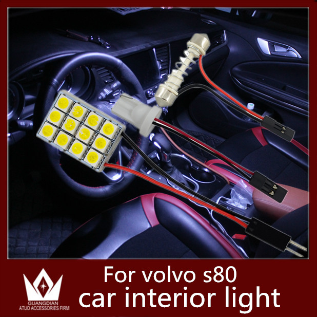 Guang Dian car Interior lamp Roof bulb Dome Panel Read light door led Trunk Light t10 festoon for volvo s80 accessorie 2007-2014